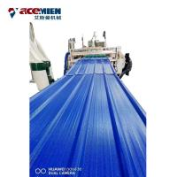 Buy cheap PVC Roofing Sheet Plant Roof Tile Machine , Roof Roll Forming Machine ASA Resin product