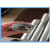 Buy cheap SS304 Sheet Dye Tube Perforated Metal Mesh Light Weight  Fit Cone Dyeing Machine product