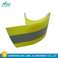 Buy cheap PVC Clear 2*1CM Elastic Reflective Clothing Tape Reflective Fabric product