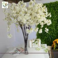 Artificial cherry blossom tree online wholesaler ec91098814 buy cheap uvg chr129 white cherry blossom branches faux silk flowers for wedding home from wholesalers mightylinksfo