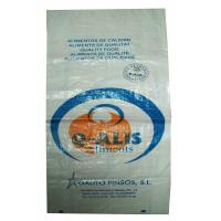 Quality Multi - Functional BOPP Laminated PP Woven Bags , Woven Polypropylene Feed Bags for sale
