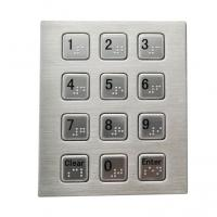 Buy cheap RS232 3 x 4 smart vending machine keypad with Braille dots stainless steel material product