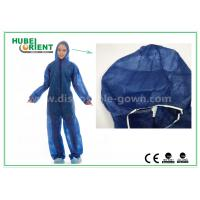 Buy cheap Disposable Non woven long sleeve coveralls With Elastic Wrists and Ankles , Size custom product