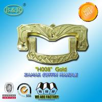 Quality Ref H008 Gold Size 19 X 11 Cm Casket Handles , Zinc Alloy Coffin Accessories for sale