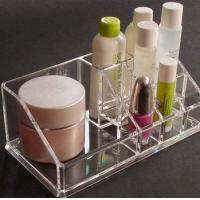 Buy cheap Crystal Acrylic Cosmetic Display Holder , Transparent Acrylic Makeup Display Holder product