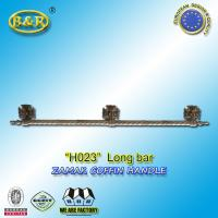 Quality H023 metal coffin long bar made of zamak zinc herrajes de ataudes 1 meter with 3 bases for sale