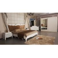 Buy cheap White Modern Classical Moslem Bedroom Sliding Wardrobes With Mirror E1 Standard Board product
