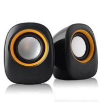 Buy cheap Plastic USB 2.0 Desktop Computer Speakers Beautiful With Volume Control product