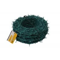 Buy cheap Great Toughness Green PVC Coated Razor Barbed Wire For Private Area Fencing product