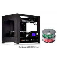 Buy cheap High Resolution Large Volume 3D Printer Single Extruder With LED Fan 280 x 180 x 180mm product