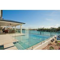 Quality Toughened Glass Panels Swimming Pool Fence 12mm with Polished Edges for sale