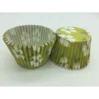 Buy cheap Green White Flower Greaseproof Cupcake Liners Disposable Mini Baking Tools Cake Decoration product
