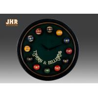 Buy cheap Dark Green Wooden Wall Plaques Fun Billiards Wall Clock product