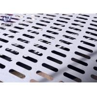 Buy cheap Slotted Perforated Metal Mesh Zinc Coated Plain Weave Style 1.22x2.44m Size product