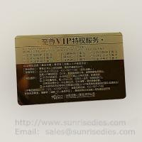 Buy cheap Customized metal business cards print etched metal cards in mass production product