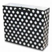 Buy cheap Paper Gift Bag with Black and White Tone, OEW Orders are Welcome product