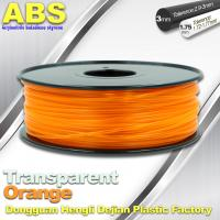 Buy cheap ABS Desktop 3D Printer Plastic Filament Materials Used In 3D Printing Trans Orange product