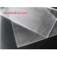 Buy cheap Large format PS Lenticular Material 120x240 25 lpi 4mm lenticular plates materials with lenticular effects product
