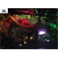 Buy cheap Full Size Garden Statues Moving Dinosaur Models With Light , Realistic Raptor Dinosaur product
