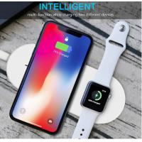 Buy cheap Two In One Wireless Phone Charger For Apple Air Pads Charging Temp Below 40 Degree product