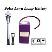 Buy cheap 6.4V 10Ah Cylindrical Lithium Ion Battery / Cylindrical Battery Pack For Solar Lawn Lamp product