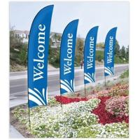 Buy cheap Double Sided Beach Flag Banner Sublimation Printing Aluminum / Fiberglass Poles product