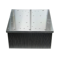 Buy cheap Square Insert Fin Air Cooling Aluminum Heat Sink Extrusion product