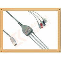 Buy cheap Mennen ECG Patient Cable 10 Pin 3 Leads Grabber AHA Gray Color product