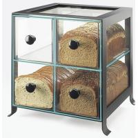 Buy cheap Countertop 4 Drawers Acrylic Display Case , PMMA Bread Display Shelves product