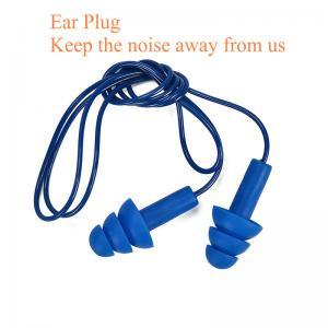 China Personal Protective Equipment  metal detectable silicone ear plug waterproof swimming ear plug corded earplug silicone on sale
