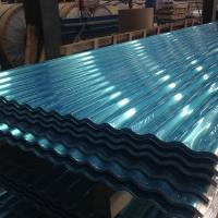Buy cheap Exposed Fastener 12 ft Aluminum Roofing Sheet Panel White / Blue ISO 9001 Approval product