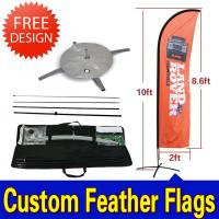 Quality Custom Flying Banner Feather Flags Banner With Dye Sub Printing for sale