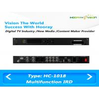 Buy cheap All In One Terrestrial Digital TV Satellite Receiver IRD Support 2 CAM with HDMI SDI AV USB product