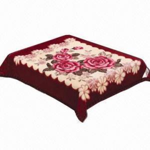 China Raschel / mink blanket, weft or warp knitting on sale