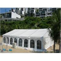 Quality Creening Activities Holding in the White Fabric Roof Event Tent Preventing from Strong Sun for sale