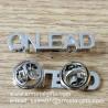 Buy cheap Monogram lettering silver emblem pins, metal monogram lapel pins, product