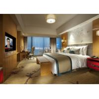 Buy cheap King Size Commercial Hotel Furniture Luxury Bedroom Set for Single / Double Room product