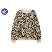 Buy cheap Leopard Jacquard Womens Knit Pullover Sweater Thick Chunky Jumper Drop Shouder from wholesalers