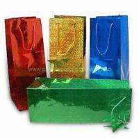 Buy cheap Promotional Paper Shopping Bags in Fashionable Design, Eco-friendly product
