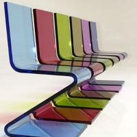 Buy cheap Eco-Friendly Colored Clear Acrylic Chairs For Business Gift , Laser Cutting product
