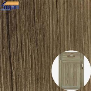Buy cheap Decorative High Glossy PVC Furniture Film Wood Grain / Metallic Color product