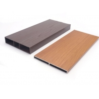 Buy cheap Wood Grain Color 6M Desk Square Tube Furniture Aluminum Profiles product