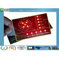 Buy cheap SMT Circuit With LED  Backlight Illuminated Embossing Key Membrane Switch product