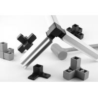 Buy cheap Rectangle Square Tube Aluminium Shelf Brackets from wholesalers
