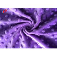 China Super Soft Minky Plush Fabric Polyester Minky Dot Fabric For Baby Blanket on sale
