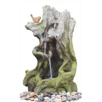 Buy cheap Old Wooden Stake Decorative Outdoor Tiered Water Fountains In Cement Material product