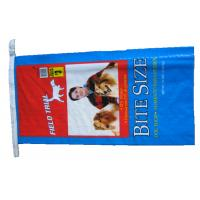 Quality Single Stitched Plastic Feed Bags , Recycle Dog Food Bag 25 Kg Moisture Proof for sale
