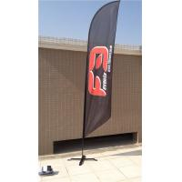 Quality Double / Single Side Printing Outdoor Advertising Sail Banners 100% 110g for sale
