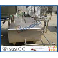 Buy cheap SUS304  SUS316L Stainless Milk Tank , Customized Milk Pasteurization Machine Tank product
