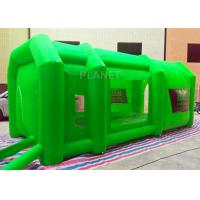 Buy cheap Green Color Inflatable Spray Paint Booth 3 D Design For Trade Show product